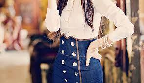 Resultado de imagem para saia jeans tumblr