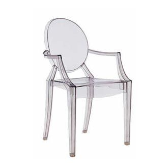 Louis Ghost clear chair for vanity 130 replicas on EbayAmazon