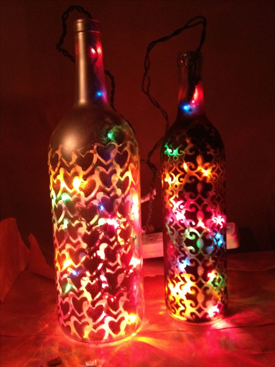 Crafts bottle and paper on pinterest for Easy wine bottle crafts