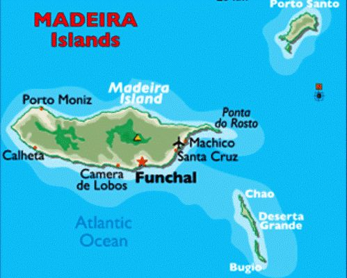 Map Of Madeira Islands Of Portugal Tuchman Beaches Guide - Portugal map beaches