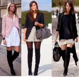 How To Wear Over The Knee Boots | Girls shoes, The o'jays and Shoes