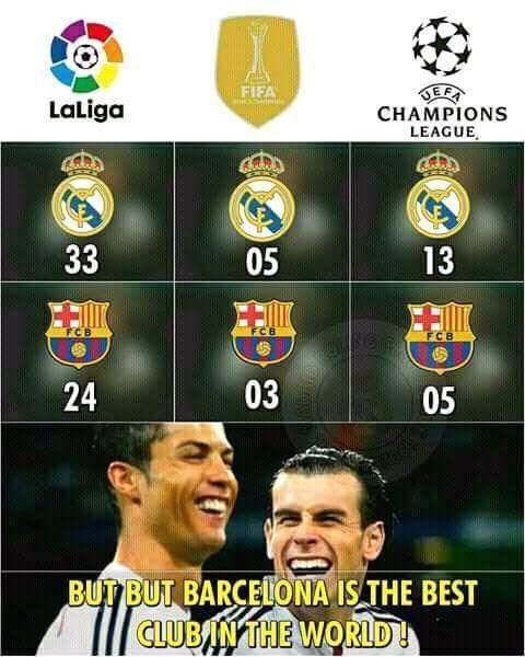 Real Madrid Vs Barca La Liga Champions League Zenaido Football Memes Football Memes Clay Matthews Nfl Spo In 2020 Real Madrid Soccer Real Madrid Real Madrid Vs Barca
