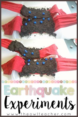 Help your students learn about earthquakes through this engaging, hands-on science experiment! Students will understand the effects of earthquakes with this activity!