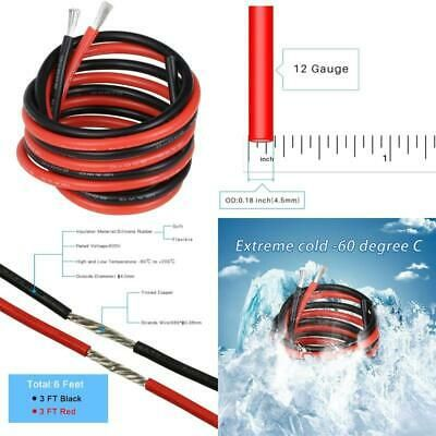 Ad Ebay Bntechgo 12 Gauge Silicone Wire 3 Ft Red And 3 Ft Black Flexible 12 Awg Stranded In 2020 12 Gauge Flexibility Gauges