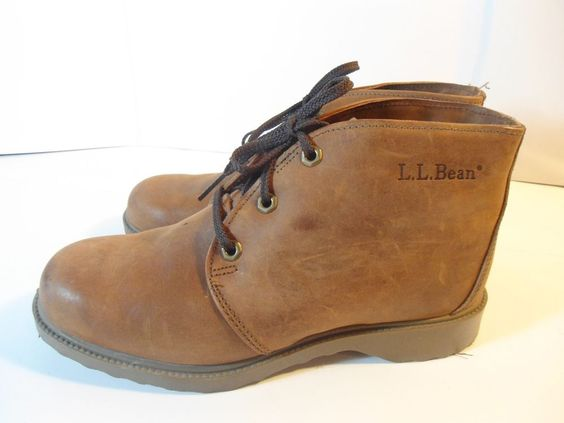 VINTAGE Women's L.L. Bean USA Brown Leather Hiking Boots Thinsulate Lining 8 W #LLBean #HikingTrail