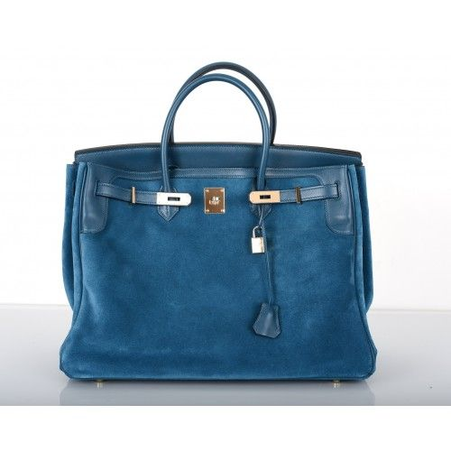 the kelly hermes bag - Herm��s Thalassa Blue Limited Edition Grizzly Suede 35cm Birkin Bag ...