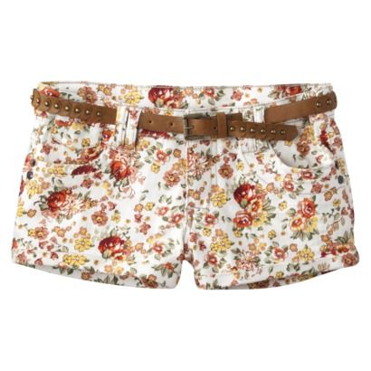 flowered shorts at target...love love love
