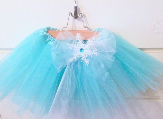 Disney's Frozen Inspired Elsa Tutu with Snowflake by PoshPixieTutu, $19.99