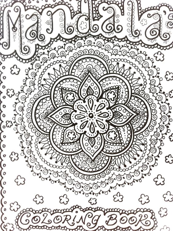 Mendi Coloring Pages MANDALAS Henna Style Book To Color Let