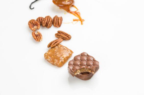 CHOCOLATE CON CARAMELO Y NUEZ