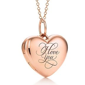 "Tiffany & Co. Rose Gold ""I Love You"" Locket"