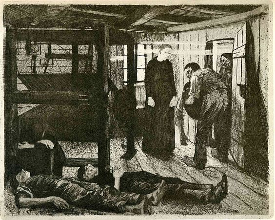 Käthe Kollwitz, The Weavers' Revolt, The End, 1894: