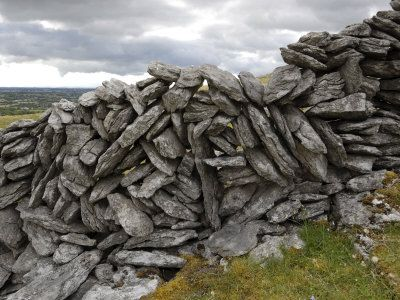 Dry Stone Wall on the Burren, County Clare, Munster, Ireland