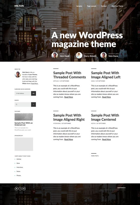 Milton theme by Lean Themes