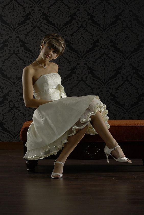 Brautkleid kurz Standesamt /Lisa/ $328.99 Standesamt Mode