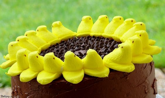 Noble Pig: Peeps Sunflower Cake