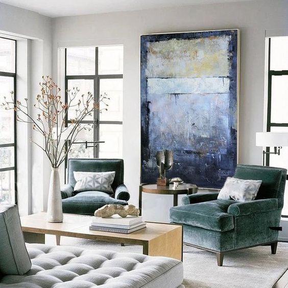 Arte De Pared Extra Grande Sobre Lienzo Arte De Pared Enorme Etsy In 2021 Living Room Grey Living Room Modern Elegant Living Room