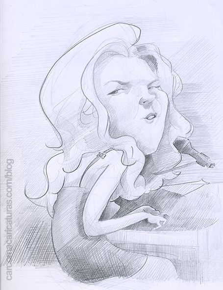 diana_krall #piano #singer #carcoma_caricatura