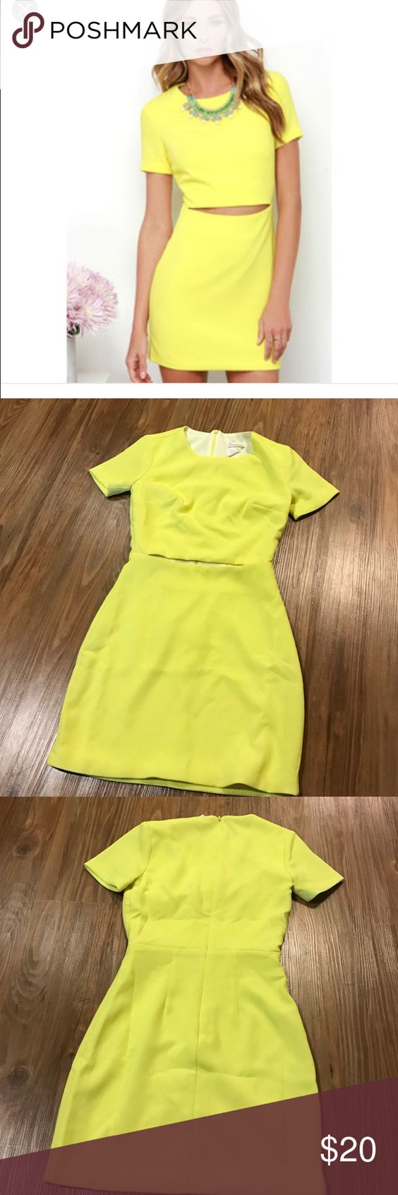 Yellow cocktail dress xs