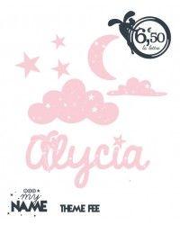 Prénom personnalisé ALYCIA et son PACK stickers