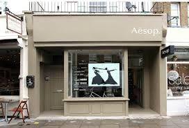 """Résultat de recherche d'images pour """"vitrine aesop"""""""