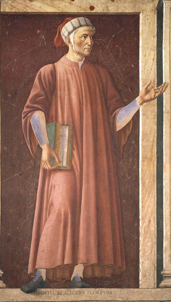 Andrea del Castagno, Dante Alighieri, ne Ciclo degli uomini e donne illustri, affresco, tra il 1448 e il 1451, Galleria degli Uffizi, Firenze