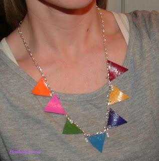 DIY Bunting Banner Necklace