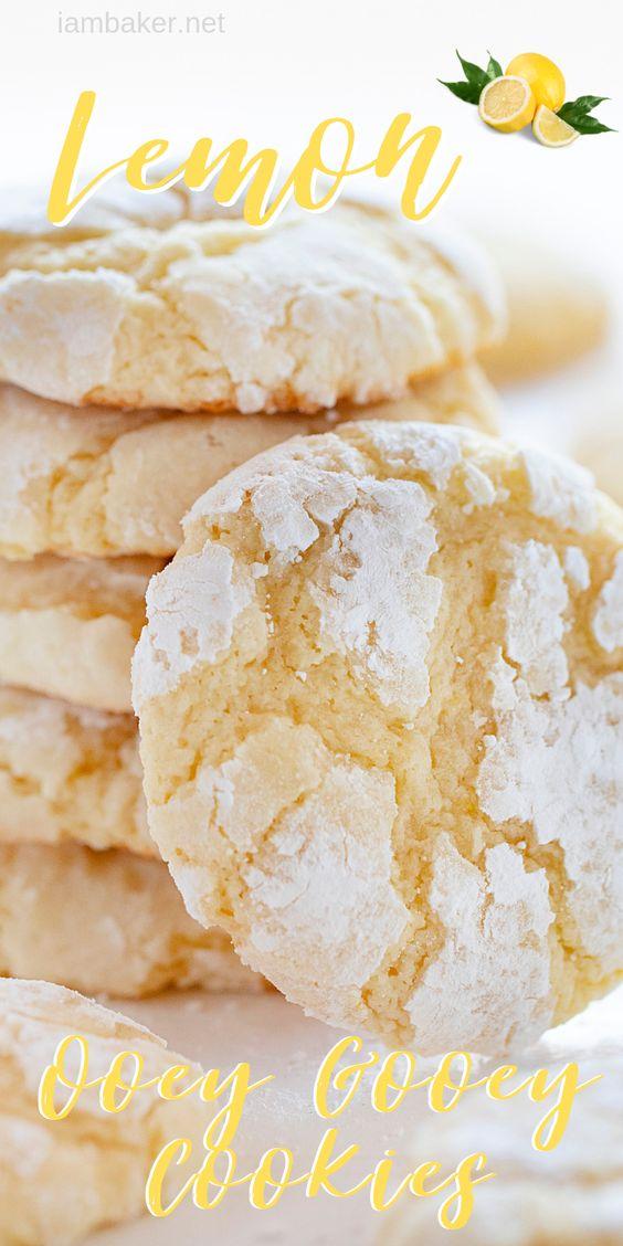 Lemon Gooey Cookies