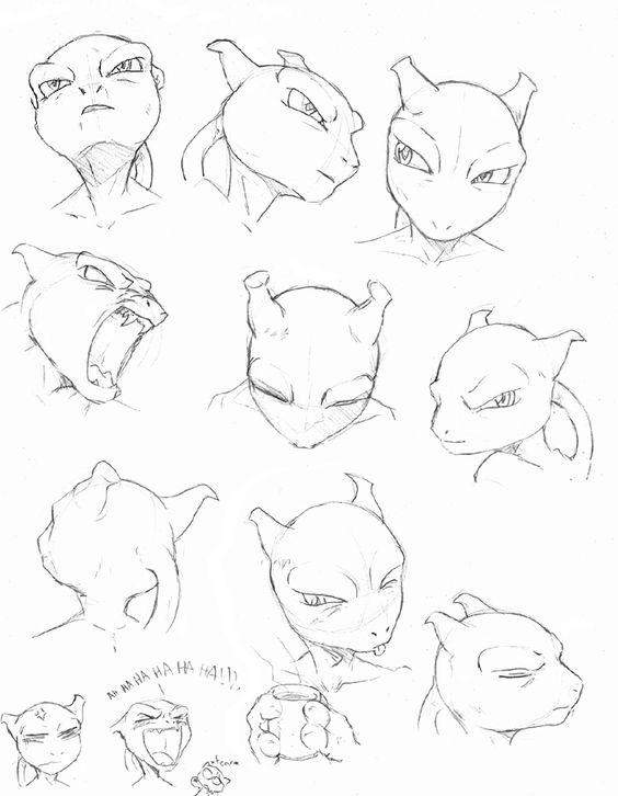 Mewtwo Heads Pokemon Mewtwo Mew And Mewtwo Mewtwo
