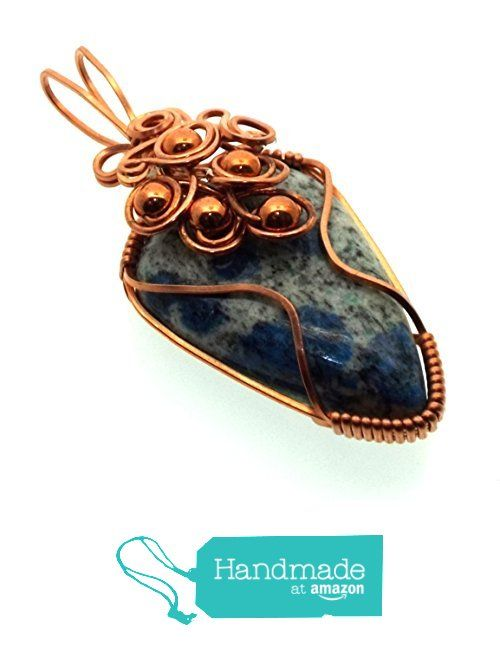 K2 Stone Gemstone Copper Wire Wrapped Pendant from Angelleesa Designs https://www.amazon.co.uk/dp/B01M0Y9D1P/ref=hnd_sw_r_pi_dp_jFM7xb030RS1F #handmadeatamazon