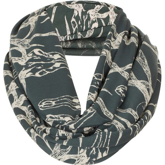 TOPSHOP Ram Head Print Snood (44 AUD) ❤ liked on Polyvore featuring accessories, scarves, topshop, olive, patterned scarves, print scarves, snood scarves and viscose scarves