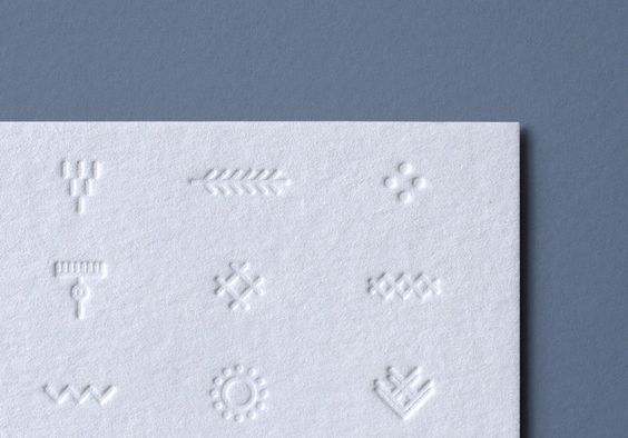 Blind embossed business card for Tuareg Woman designed by CloudyCo.