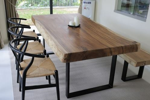 This Very Unique Table Was Constructed From A Single Slab Of Thai Acacia Wood Which Is An Extr Wood Slab Dining Table Live Edge Dining Table Slab Dining Tables
