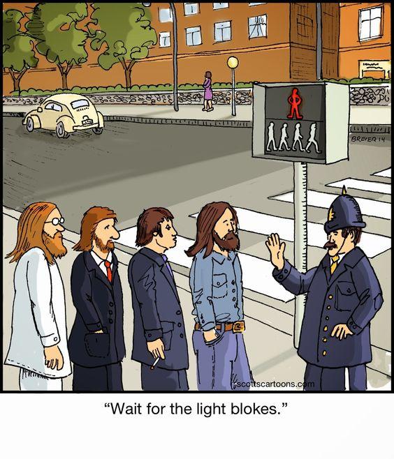 Scott's Cartoons- Noodles : Abbey Road