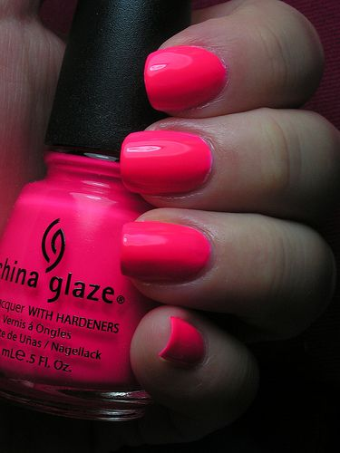 What color my nails are now. I love how bright it is!                                              Summer color.  Would look nice with a tan.