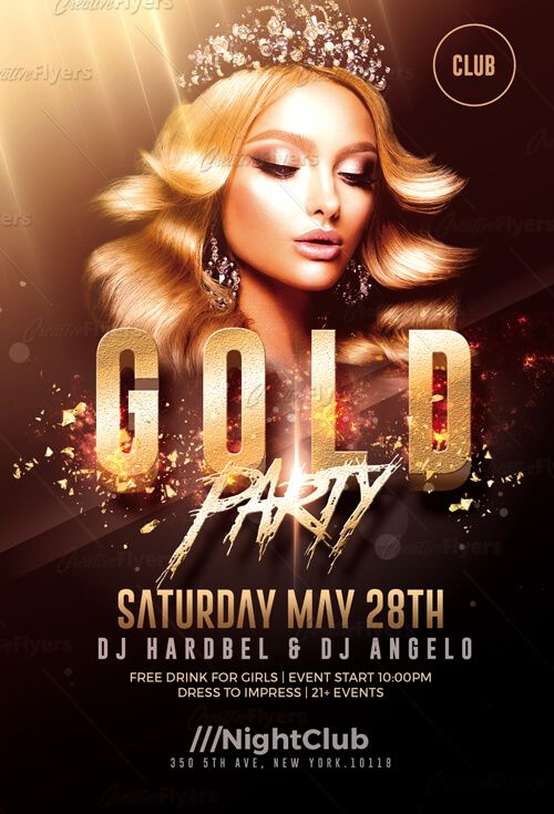 Gold Party Flyer Template Psd By Creativeflyers Party Flyer Psd
