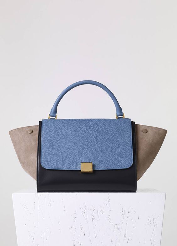 replica celine trapeze original calfskin with nubuck leather bag brown