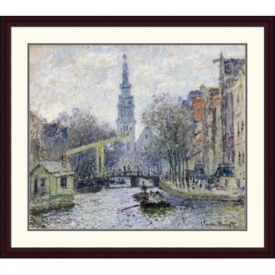 Global Gallery 'Canal, Amsterdam' by Claude Monet Framed Painting Print Size:
