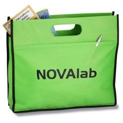 Let your advertising efforts get carried away with this tote case!