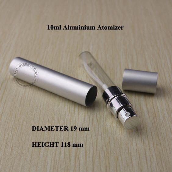 Wholeslae 10 stück 10ml d19*h118mm silber aluminium+glass flasche flasche parfüm flüssigkeit zerstäuber sprühflasche reise-parfüm container