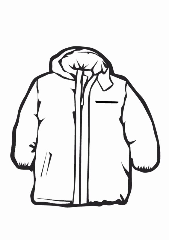 Winter Coat Coloring Page In 2020 Coloring Pages Winter