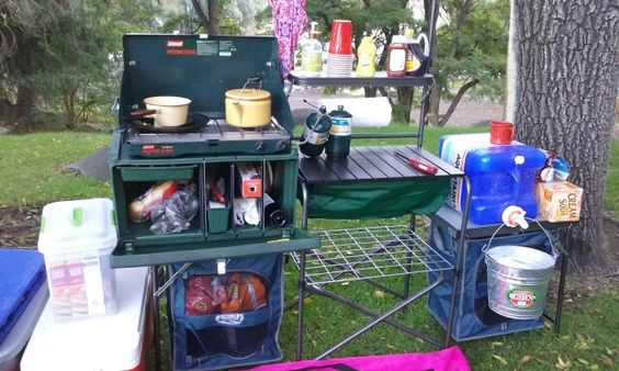 Camp kitchen set up