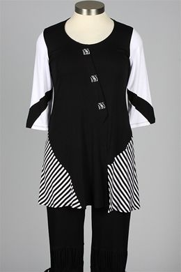 inside out - Stevie Tunic - Black & White