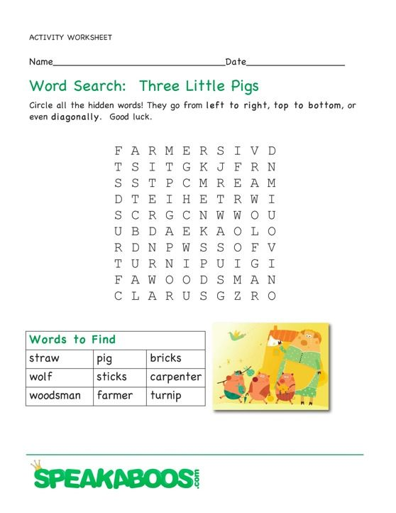 ... little pigs on pinterest three little : Three Little Pigs Worksheets