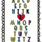 You might be a Kinder teacher...if you can read this alphabet! ...