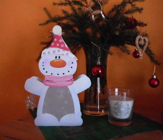 schmuck ideen esstisch weihnachten deko schneemann basteln