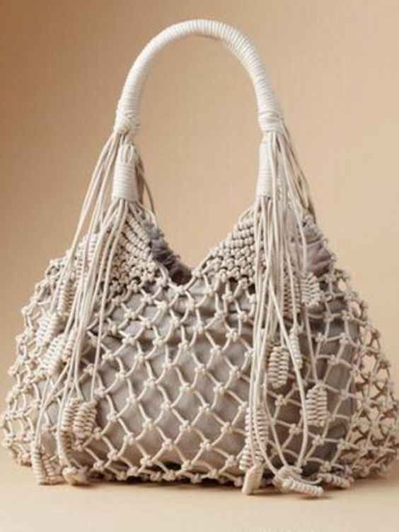 Macrame Purse Patterns Free : and more bags the shape macrame bag crochet shape diy crochet macrame ...