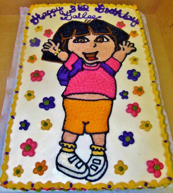 Cake Design For Dora : Dora cake design in 100% buttercream~ Children s ...