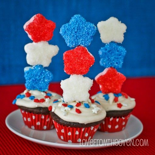 Red, White & Blue StarMallow Cupcakes