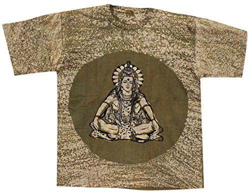Odishabazaar Unisex Cotton Lord Shiva Batik T-shirt Tees XL Green Odishabazaar http://www.amazon.com/dp/B01AO6DQ6Y/ref=cm_sw_r_pi_dp_aEa4wb0TYQ1E3